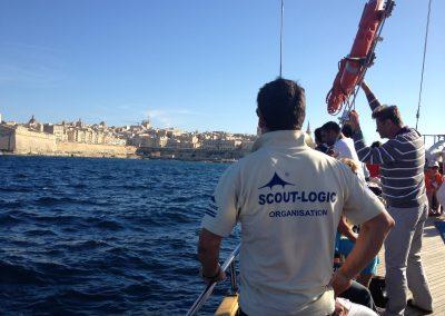 Sonntagsausflug Malta Fahrlehrer gute Sicht auf Vallletta